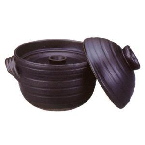 萬古焼 大黒ふっくらご飯鍋4合炊(中蓋付)炊飯土鍋|utuwayaissin