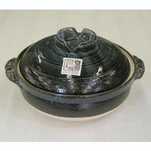 深型土鍋8号 るり釉(3人用・日本製)|utuwayaissin