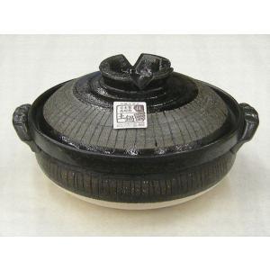 深型土鍋10号 黒十草(5人用・日本製)|utuwayaissin