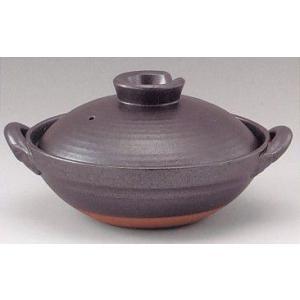 京型土鍋6号 鉄釉(1人用・日本製)業務用|utuwayaissin