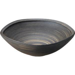 陶器製手洗い鉢 いぶし白刷毛12号手洗鉢(信楽焼)|utuwayaissin