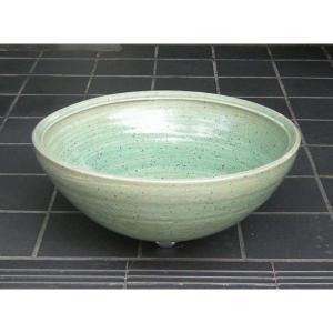 陶器製手洗い鉢 緑彩うずしお9号手洗鉢(信楽焼)|utuwayaissin