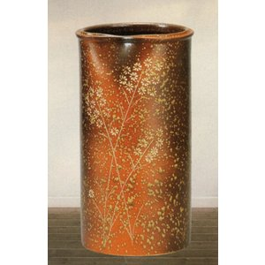 傘立て・信楽焼き陶器製傘たて 草花紋|utuwayaissin