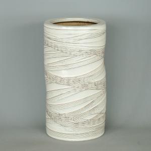 傘立て・信楽焼き陶器製傘たて 白櫛目 utuwayaissin