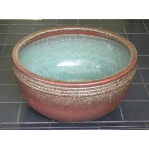水鉢・窯肌ボウル13号(睡蓮鉢・めだか鉢)信楽焼|utuwayaissin
