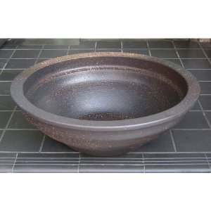 水鉢・窯変反型(睡蓮鉢・めだか鉢)信楽焼16号|utuwayaissin