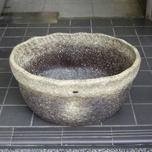めだか鉢・窯肌ひねり小判(水鉢・水蓮鉢)信楽焼13号 utuwayaissin