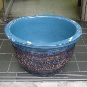 水鉢・生子千段(睡蓮鉢・水蓮鉢)信楽焼15号 utuwayaissin