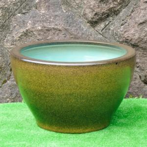 水鉢・金ソバ深型SA6(睡蓮鉢・水蓮鉢)信楽焼15号|utuwayaissin
