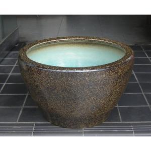 水鉢・金ソバ深型SA6(睡蓮鉢・水蓮鉢)信楽焼12.5号|utuwayaissin