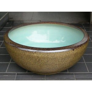 水鉢・金ソバSA4(睡蓮鉢・めだか鉢)信楽焼16号|utuwayaissin