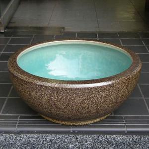 水鉢・金ソバSA3(睡蓮鉢・めだか鉢)信楽焼13号|utuwayaissin