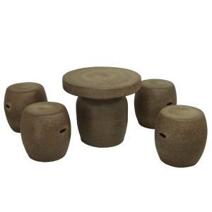 ガーデンテーブルセット(信楽焼陶器製5点)窯肌20号|utuwayaissin