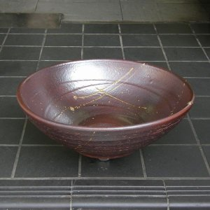 陶器製手洗器 コゲ火色10号手洗鉢(信楽焼)|utuwayaissin