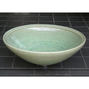 陶器製手洗器 緑釉うずしお12号手洗鉢(信楽焼)|utuwayaissin