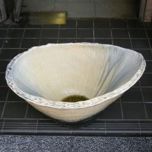 水鉢・窯変小判型(睡蓮鉢・水蓮鉢)信楽焼20号|utuwayaissin