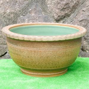睡蓮鉢・窯肌トチリワン型(水鉢・水蓮鉢)信楽焼20号|utuwayaissin