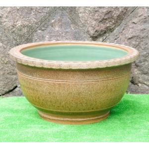 睡蓮鉢・窯肌トチリワン型(水鉢・水蓮鉢)信楽焼18号|utuwayaissin