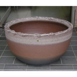 水鉢・コゲ丸型(睡蓮鉢・水蓮鉢)信楽焼15号|utuwayaissin