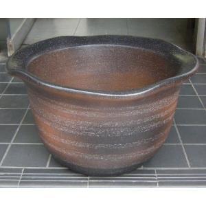 水鉢・コゲ窯肌(睡蓮鉢・水蓮鉢)信楽焼14号|utuwayaissin