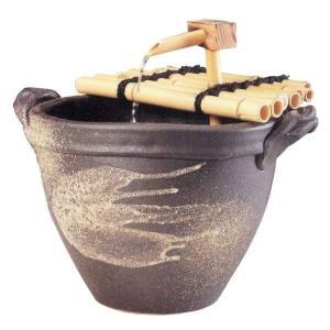 窯肌耳付水流つくばい|utuwayaissin