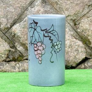 傘立て・信楽焼き陶器製 天目ぶどう utuwayaissin