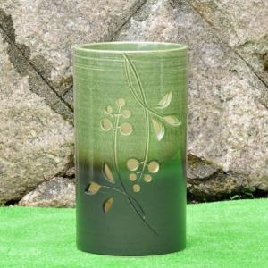 傘立て・信楽焼き陶器製 オリベ花スカシ|utuwayaissin
