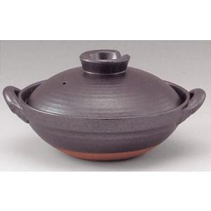 京型土鍋8号 鉄釉(2〜3人用・日本製)業務用|utuwayaissin