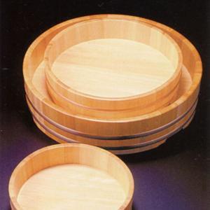 椹・盛込器(すし桶)7寸(足付)|utuwayaissin