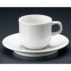 ベーシック スタックコーヒー碗皿・業務用(日本製白磁)|utuwayaissin