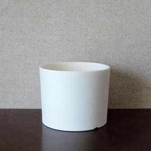 白い陶器の植木鉢(つやなし、マットタイプ) / ずんどうタイプ|utyu|07
