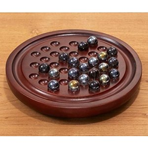 Board Solitaire Game with Glass Marbles (0594668115) 輸入品|uujiteki