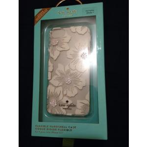iPhone 7 ケース ケイトスペード 輸入品 Kate Spade NY Flexible Hardshell CLEAR/HOLLYHOCK FLORAL uujiteki