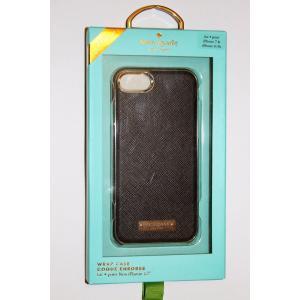 iPhone 7 ケース ケイトスペード 輸入品 Kate Spade New York Wrap Case for iPhone 7 / 6 / 6S  Black/Gold uujiteki