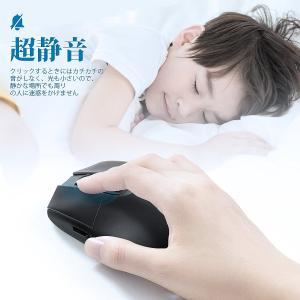 ワイヤレスマウス 静音 Wrcibo 無線 マウス USB充電 小型 2.4GHz 3DPIモード ...