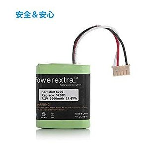 Powerextra ブラーバ 380J 371J バッテリー 7.2V/3000mAh 44492...