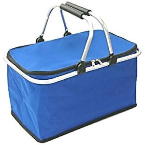 cretom(クレトム) 買い物用 レジカゴ対応 折りたたみバスケット ブルー 断熱素材使用 CFD...