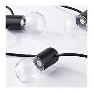 IKEA/イケア SVARTRA:LEDライトチェーン 全12球 ブラック (703.908.21)