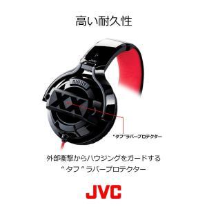JVC HA-XMR20X XXシリーズ 密閉型ヘッドホン リモコン付 ブラック&レッド