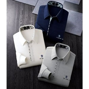 〈サルーンエクスプレス〉 留め外し簡単ボタン使用ニットシャツ(3色組)|uushop2