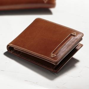 アニリンワックスレザー二つ折り財布|uushop2