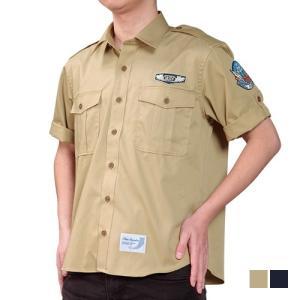 ブルーインパルス・サファリシャツ PX 限定 ミリタリー 自衛隊 メンズ シャツ 半袖