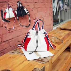 ショルダーバッグ 巾着型キャンバス地 3WAY 斜めがけ肩掛けハンドバッグカバンミニ カジュアル かわいい おしゃれトートバッグ|uuu-shop