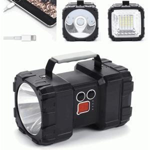 懐中電灯 led 超強力 最強 超高輝度 サーチライト 7モード調光 一台3役 usb充電式給電 防水 ハンドル付き ランタン  強力充電式LED懐中電灯|uuu-shop