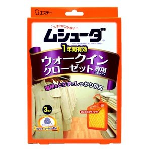 エステー ムシュ−ダ1年間有効ウォ−クイン専用3個/ ムシューダ 防虫剤 クローゼット用|v-drug-2