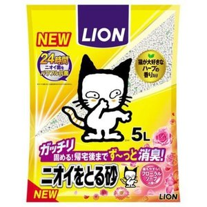 ニオイをとる砂 フローラルソープの香り 5L/ ニオイをとる砂 猫砂 (毎)