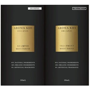 AROMA KIFI(アロマキフィ) オーガニック モイストシャイン お試しサシェ シャンプー&トリ...