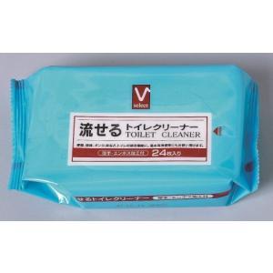 Vセレクト 流せるトイレクリーナー 24枚/ 掃除シート トイレ用 (応)|v-drug