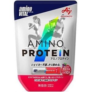 アミノバイタル アミノプロテイン カシス味 パウチ 43g(4.3g×10本) /プロテイン|v-drug