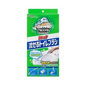 スクラビングバブル シャット 流せるトイレブラシ 本体+替え4個×20個セット/ スクラビングバブル 洗浄剤 トイレ用|v-drug